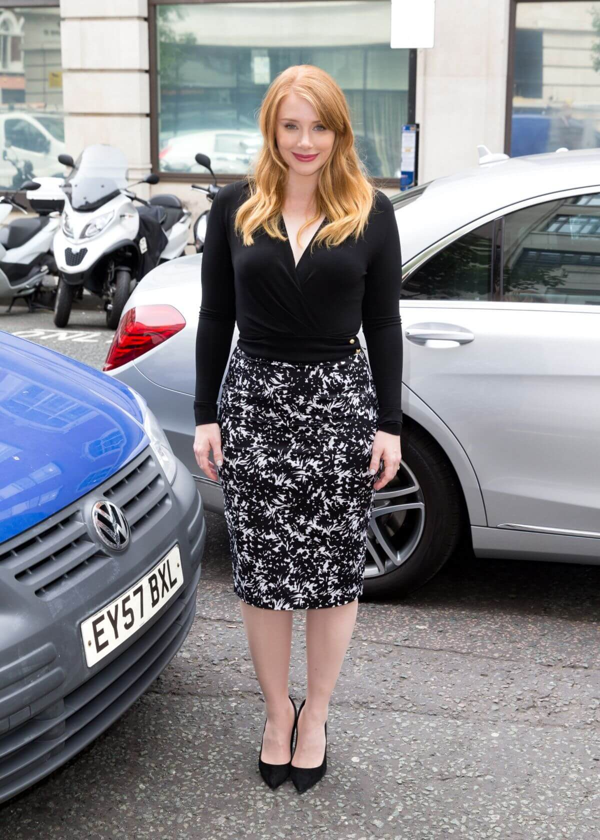 Bryce Dallas Howard Arrives at BBC Radio 2 Studios in London