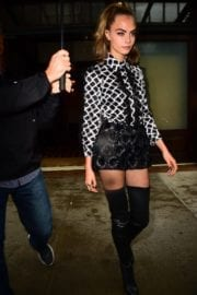 Cara Delevingne Night Out In New York