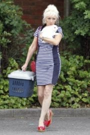 Debbie Mcgee Leaves A Veterinary Clinic In London 9