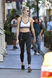 Devon Windsor in Tights Out in New York City