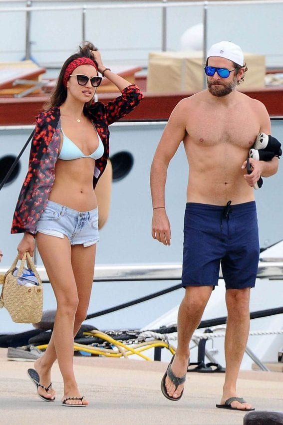 Irina Shayk And Bradley Cooper Out In Sardinia