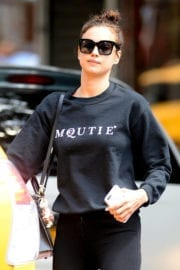 Irina Shayk in Black Jeans out in New York City