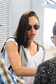 Israeli actress Gal Gadot at Heathrow Airport in London 9