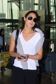 Israeli actress Gal Gadot at Heathrow Airport in London 5