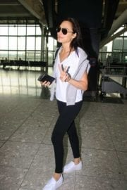 Israeli actress Gal Gadot at Heathrow Airport in London 1