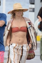 Kate Hudson in a Bikini Top on a Dock in Formentera 6