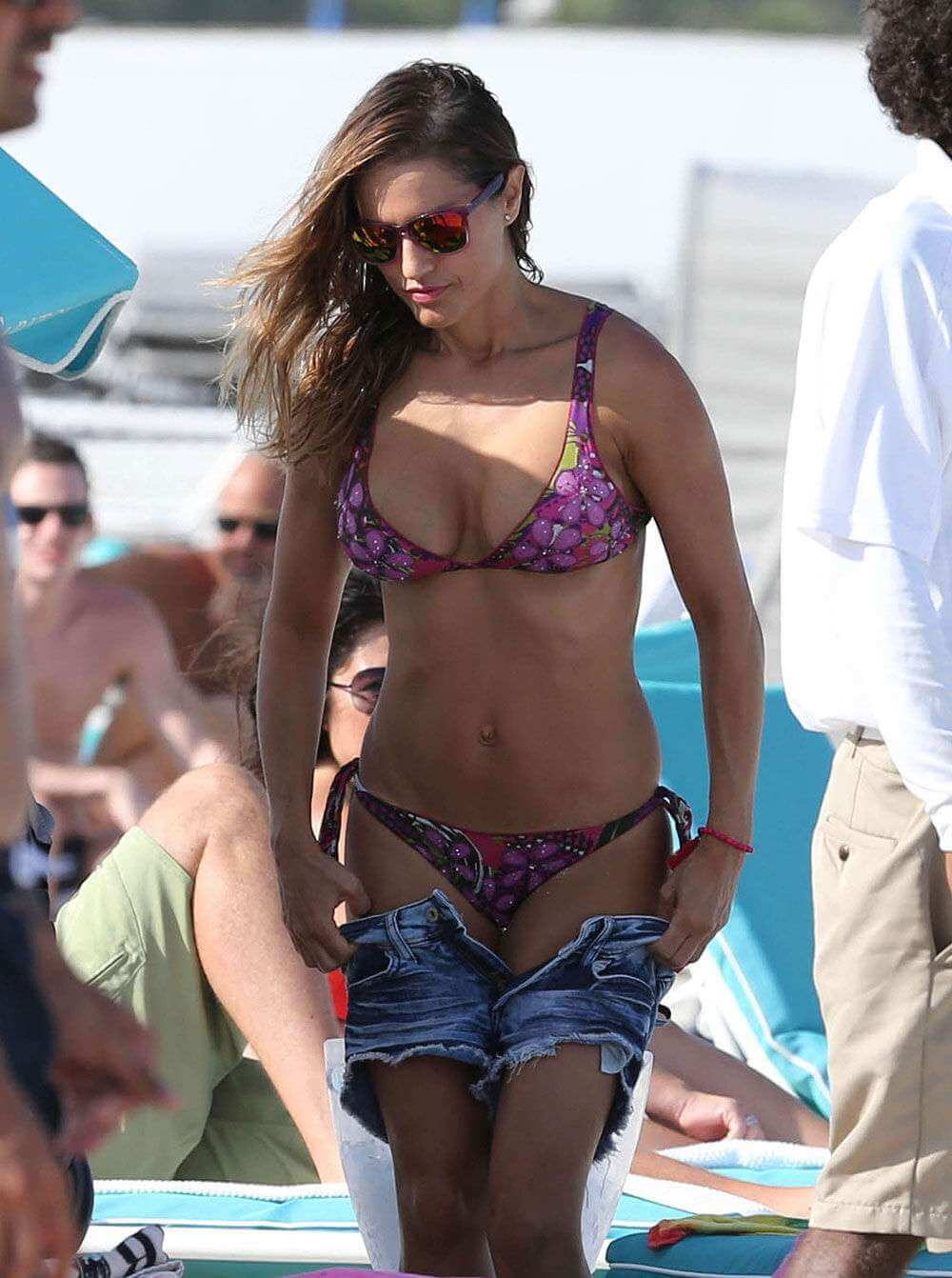 Lola Ponce wearing Purple Bikini in Miami 12