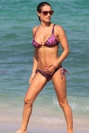 Lola Ponce wearing Purple Bikini in Miami 11