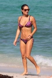 Lola Ponce wearing Purple Bikini in Miami 8