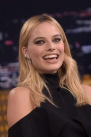 Margot Robbie on The Tonight Show Starring Jimmy Fallon in New York