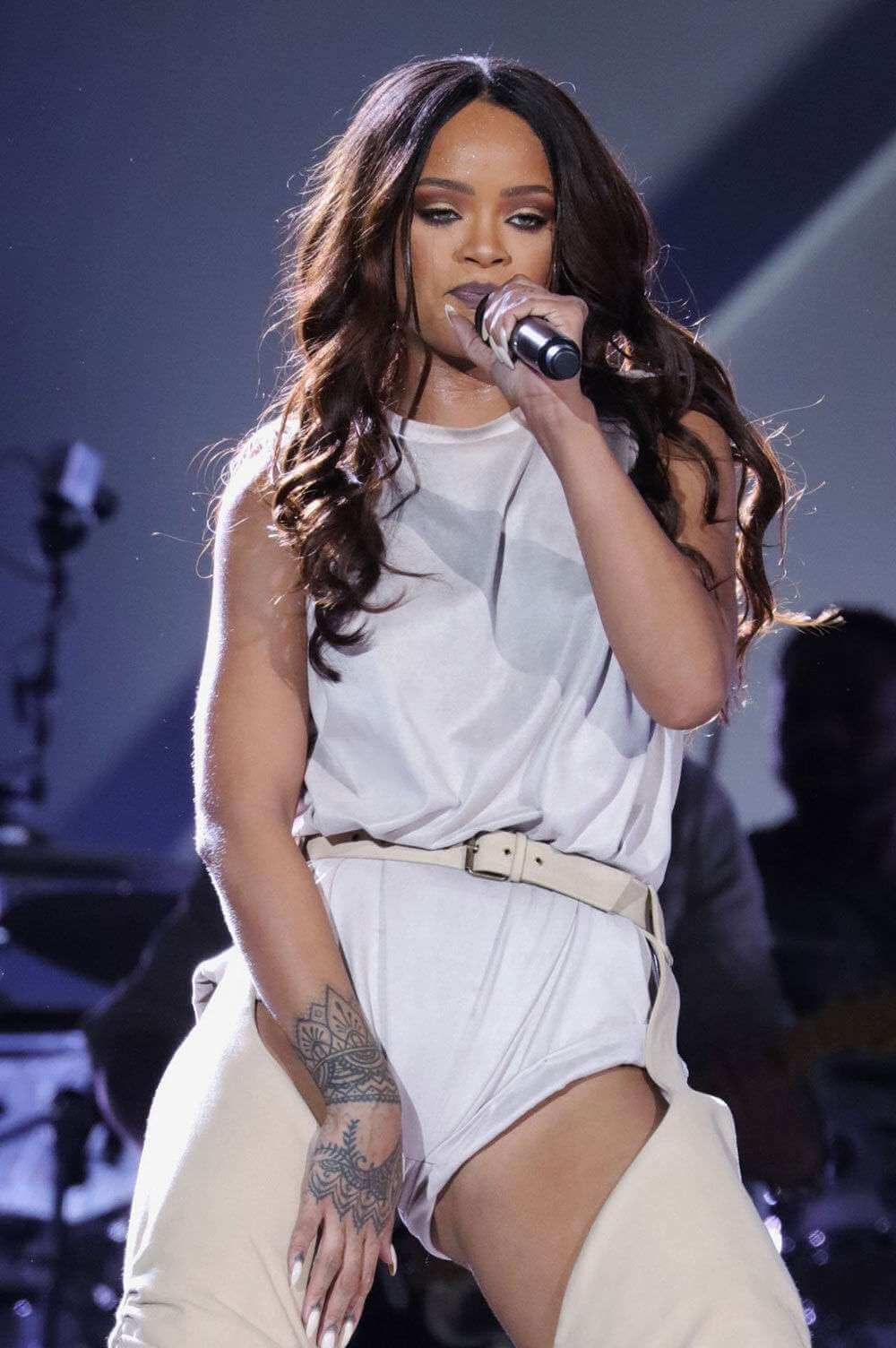 Rihanna performs at Meazza Stadium in Milano, Italy 1