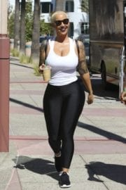 Amber Rose Stills at DWTS Practice in Hollywood