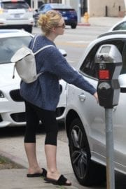 American Actress Elle Fanning Out and About in Studio City