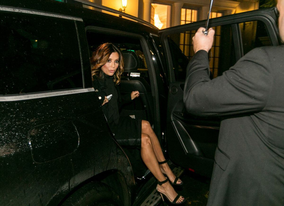 American Actress Eva Longoria Arrives at L'Oreal Press Day in Moscow