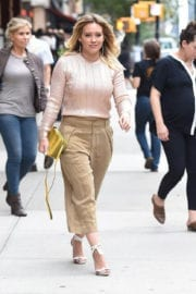 American Actress Hilary Duff Stills Out in New York