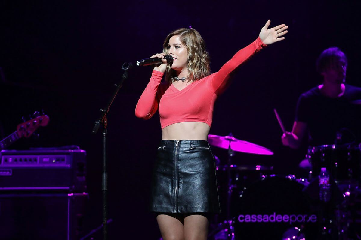 American Singer Cassadee Pope Performs at Band Against Cancer Tour