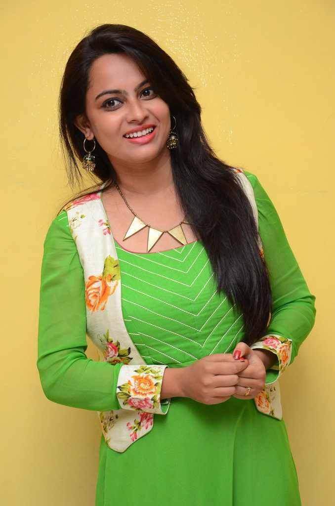 Atithi Das at Atharillu Movie Success Meet Photos