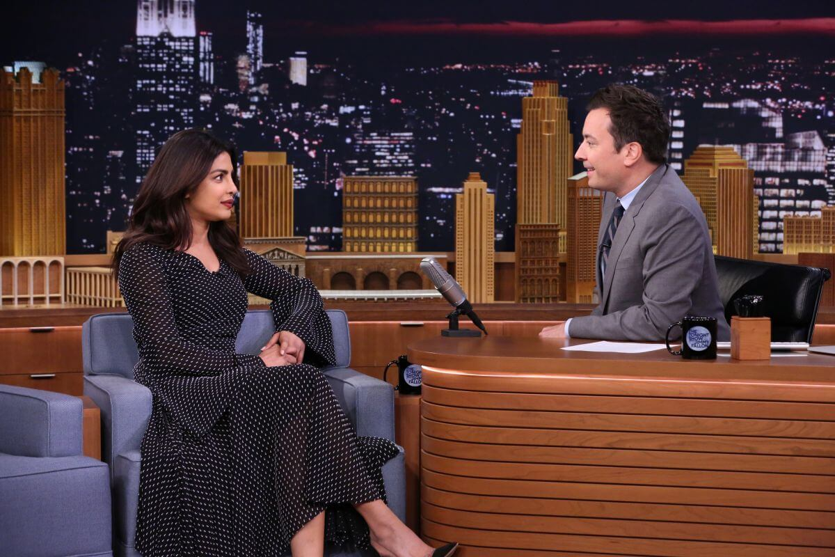 Bollywood Actress Priyanka Chopra at Jimmy Fallon in New York