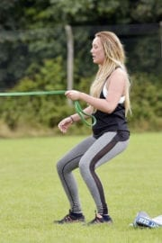 Charlotte Crosby Workout in Hear To Her Home in Newcastle - 14/09/2016