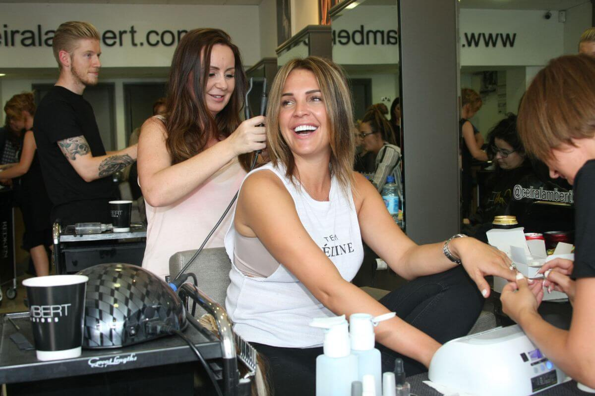 Danielle Lloyd at Ceira Labert's Hair Salon in Dublin