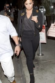 Demi Lovato Stills Arrives at Catch Restaurant in West Hollywood