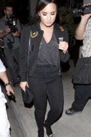Demi Lovato Stills Leaves Catch Restaurant in West Hollywood