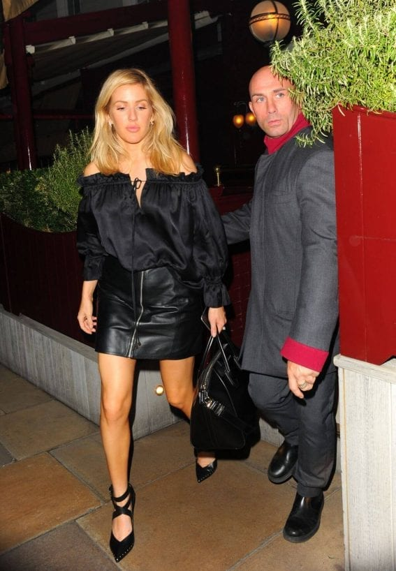 Ellie Goulding in Black Skirt at Lou Lous in London Photos