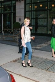 Emma Roberts Leaves Her Hotel in New York