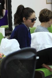 Emmy Rossum at a Nail Salon in Beverly Hills