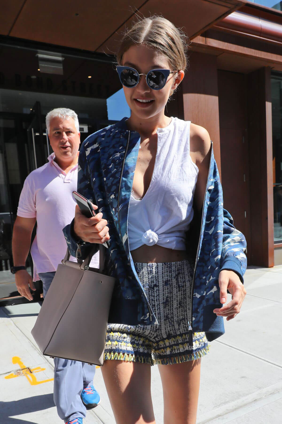 Gigi Hadid in Shorts Out and About in New York Photos