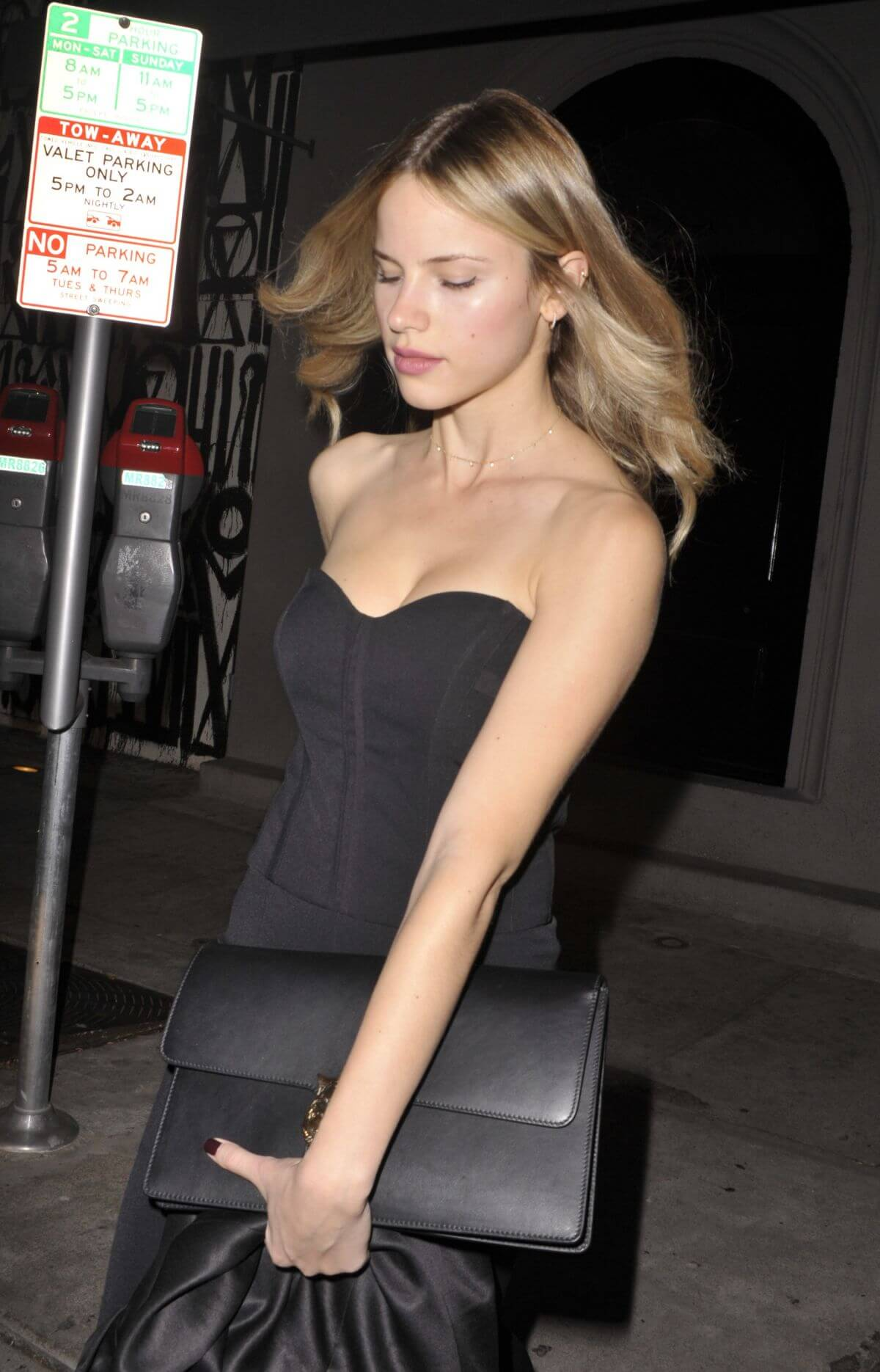 Halston Sage Stills Leaves a Birthday Dinner at Craig's in West Hollywood