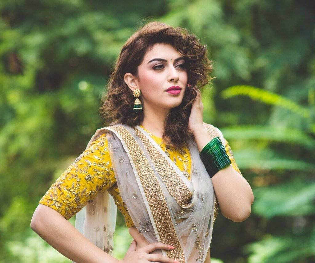 Hansika Motwani Hot Photoshoot in Yellow Lehenga Photos