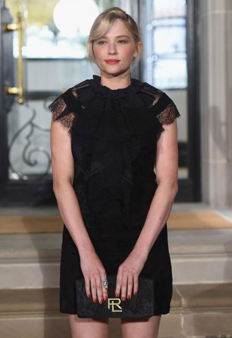 Hayley Bennett at Ralph Lauren Fashion Show at New York NYFW