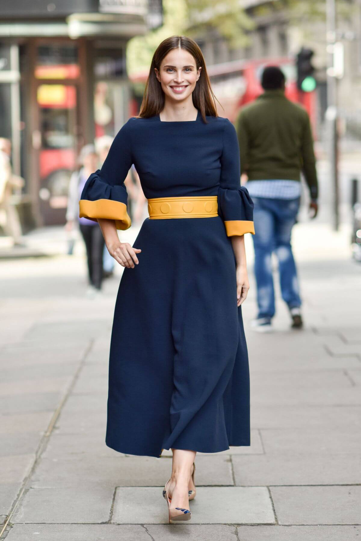 Heida Reed Arrives at Roksanda fashion Show at London Fashion Week