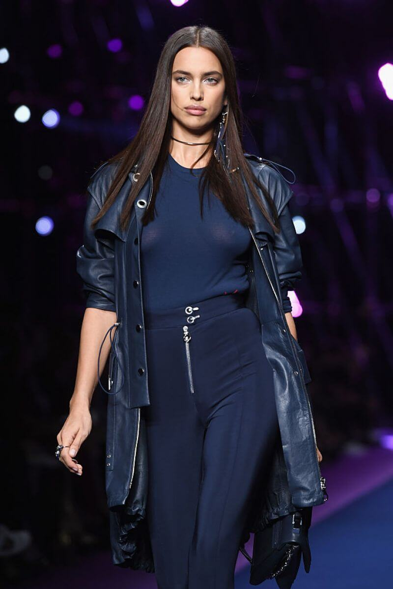 Irina Shayk Stills at Versace Fashion Show at Milan Fashion Week
