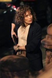 "Jennifer Lopez on the Set of ""Shades of Blue"" in New York"