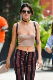 Kendall Jenner Stills in a Halter Top Out and About in New York