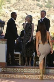 Kim Kardashian and Kanye West At Wedding Of Their Friends In Simi Valley