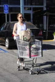 Minka Kelly Leaves Whole Foods in West Hollywood