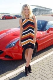 Mollie King at Ferrari California T Experience Day at Silverstone Stowe Circuit