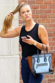 Nina Agdal in Jeans out and about in New York