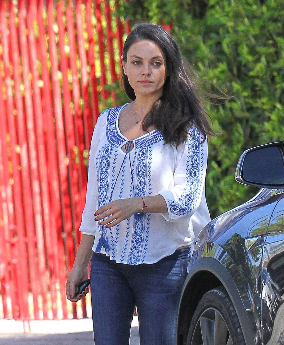 Pregnant Mila Kunis Stills Out and About in Los Angeles