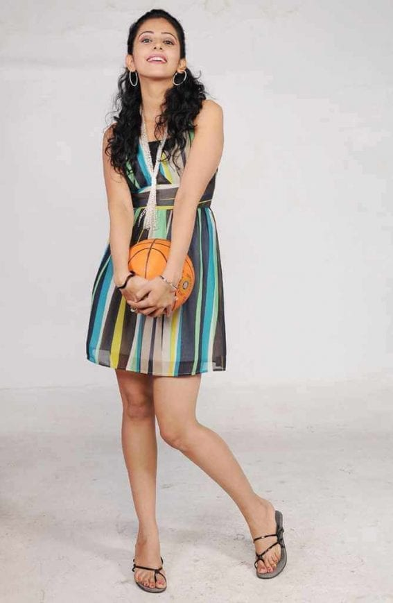 Rakul Preet Singh Hot Photoshoot Stills With Basketball Pics