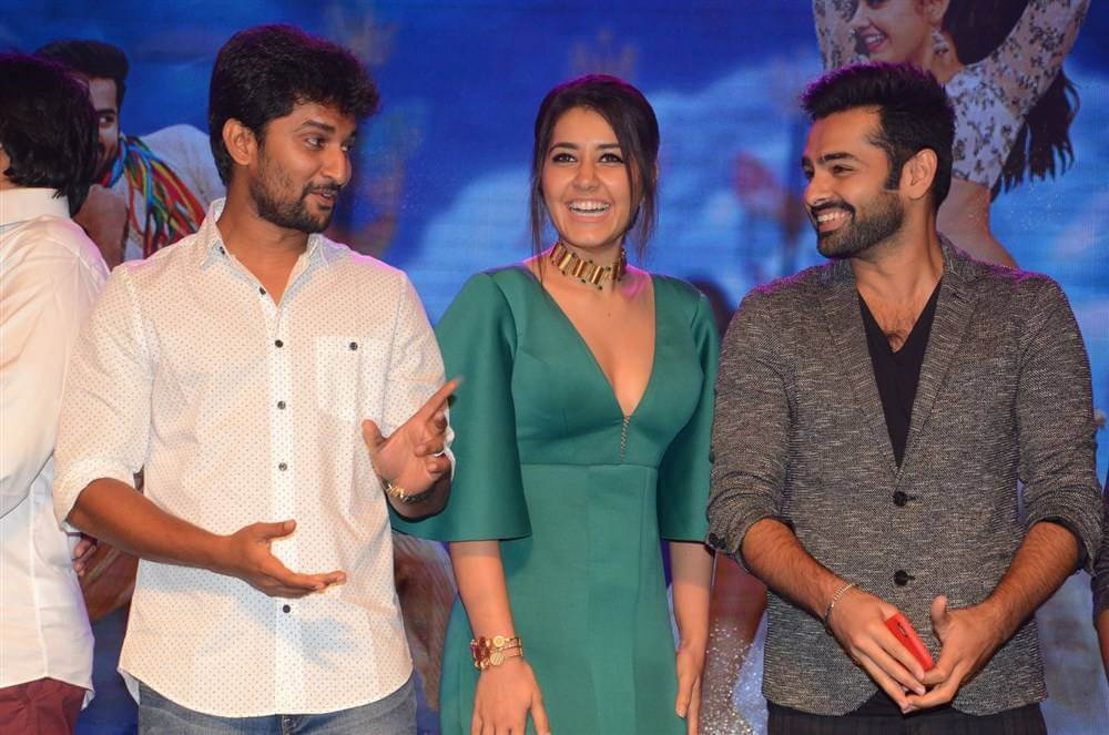 Ram Pothineni and Raashi Khanna at Hyper Theatrical Trailer Launch Photos