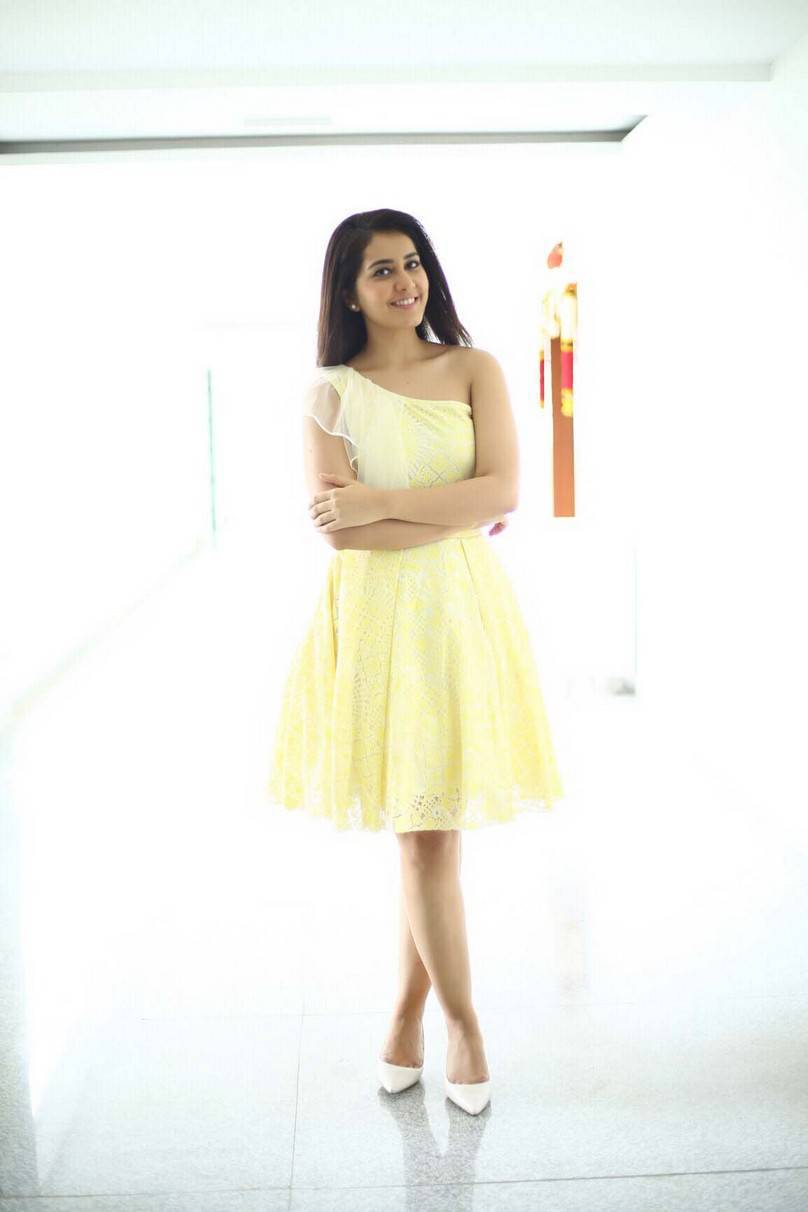 Rashi Khanna Photoshoot in Lemon Yellow Dress