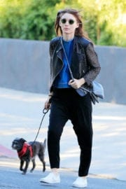 Rooney Mara Out with Her Dog in New York
