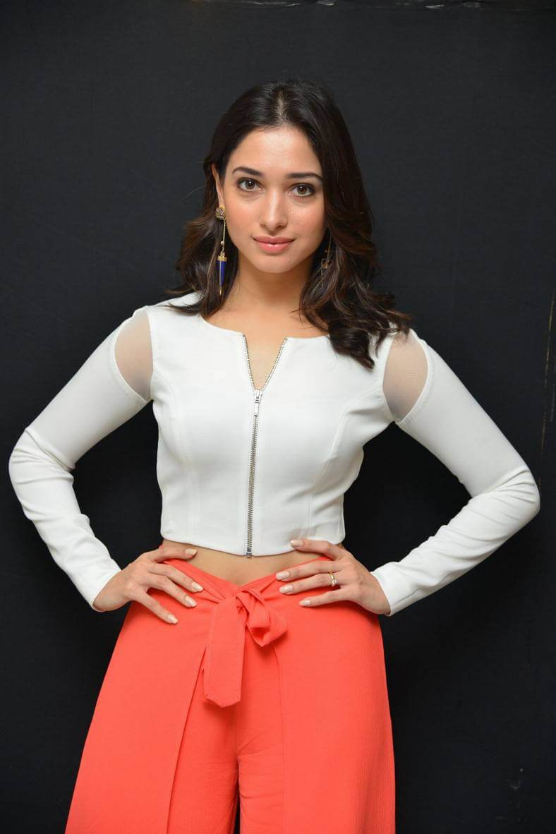 Tamannaah Bhatia at Abhinetri Movie Interview Photos