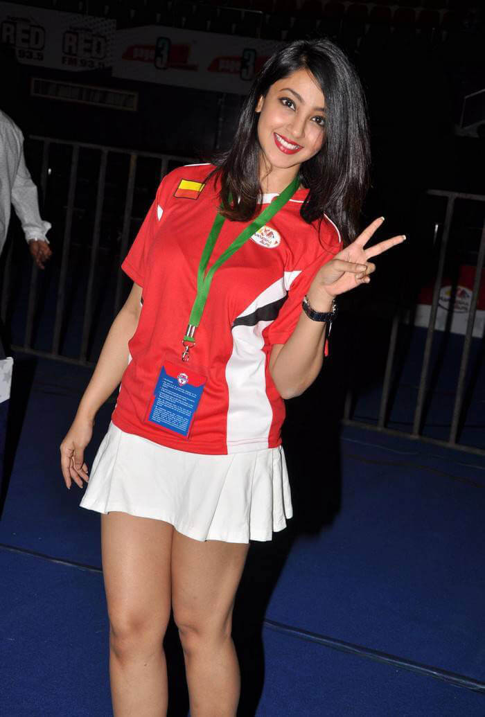 Aindrita Ray at CBL-Celebrity Badminton League 4th Match Inauguration