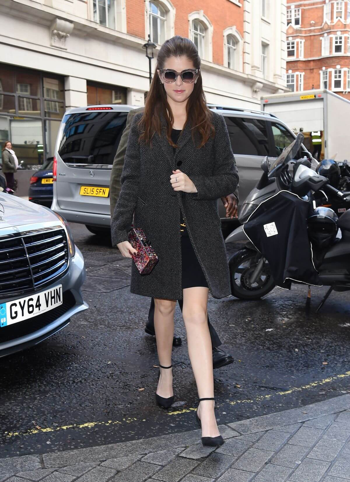 Anna Kendrick Stills Out and About in London Photos