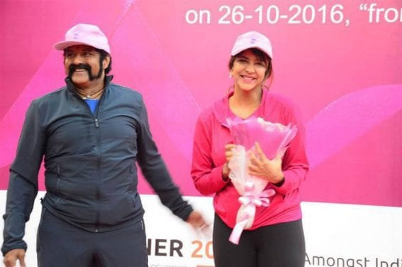 Balakrishna and Manchu Lakshmi Breast Cancer Awareness Walk at KBR Park Images